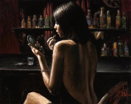 Fabian Perez Anna at the Bar