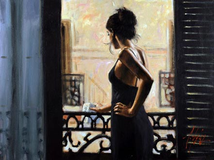 Fabian Perez At the Balcony