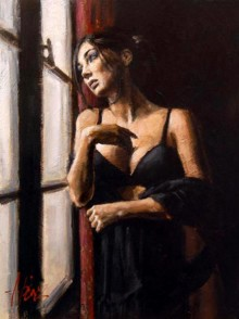 Artist Painter Fabian Perez Painting At The Window
