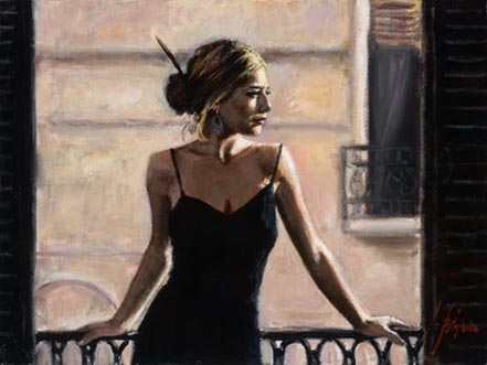 fabian perez balcony at buenos aires at the white wall