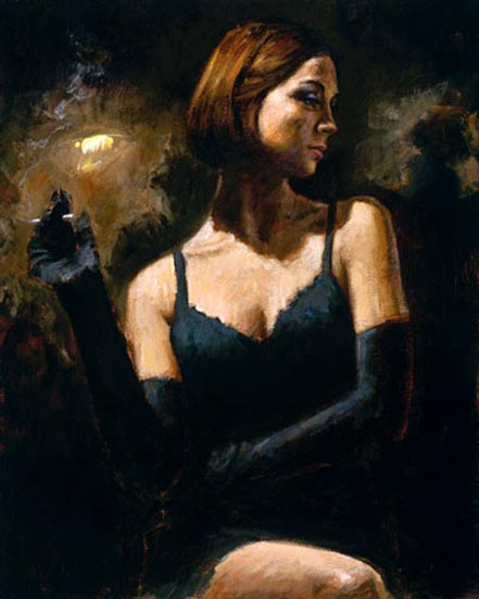 fabian perez black gloves II