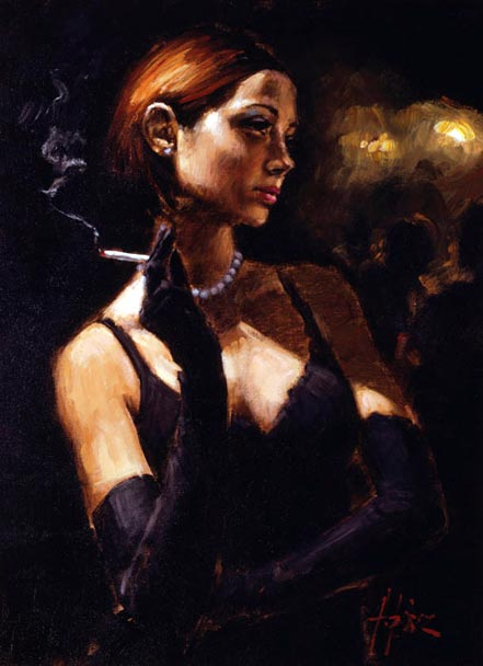 fabian perez black gloves