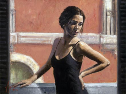 fabian perez christine at the balcony