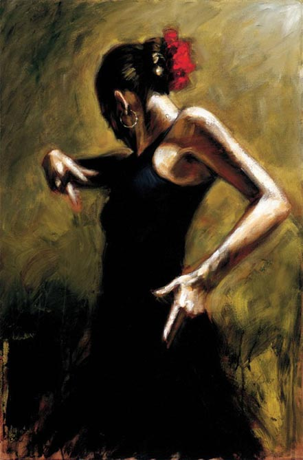 fabian perez dancer in black