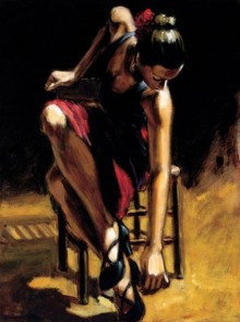 fabian perez dancer in red skirt