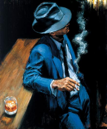 fabian perez enjoying the pleasures of the night