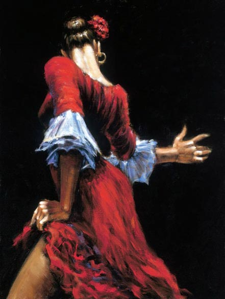 fabian perez flamenco dancer iii