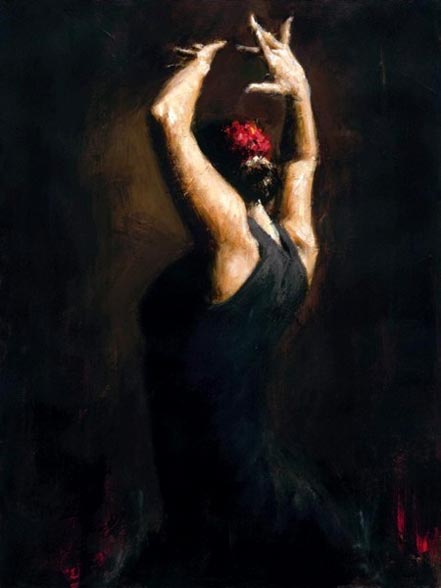 fabian perez flamenco dancer iv