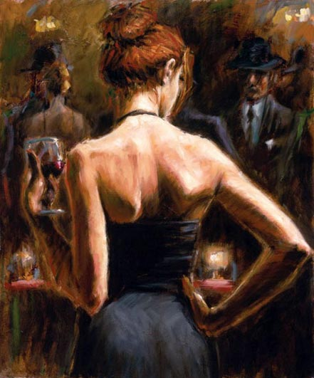 fabian perez girl with red hair