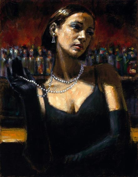 fabian perez gloves and pearls