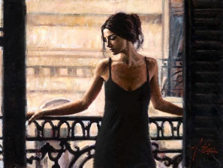 fabian perez luciana at the balcony