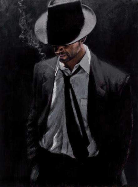 fabian perez man in black suit iii