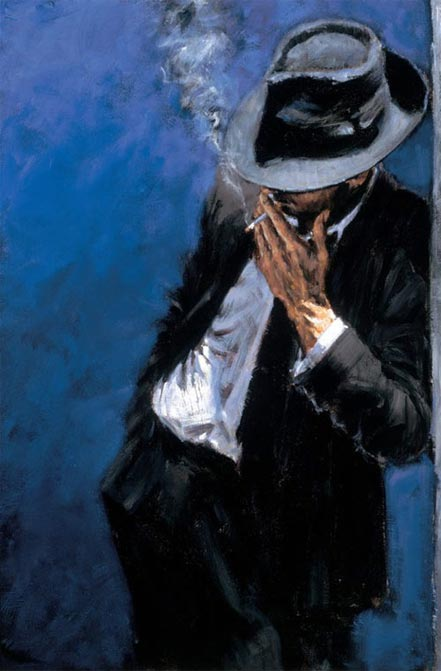 fabian perez man in black suit