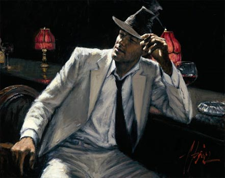 fabian perez man in white suit v