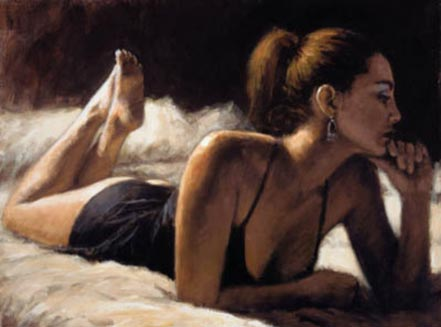 fabian perez paola on the bed