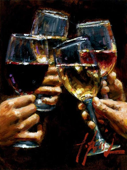 fabian perez red white and rose