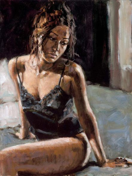 fabian perez renee on bed iii