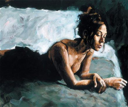 fabian perez renee on bed