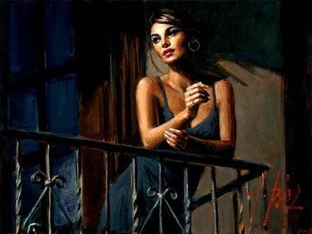 fabian perez saba at the balcony vii