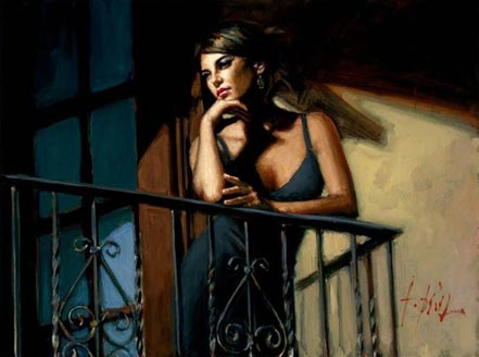 fabian perez saba at the balcony viii