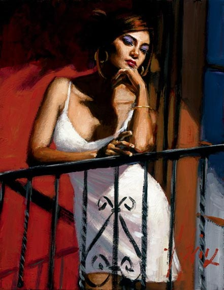 fabian perez saba at the balcony xiv at the red wall
