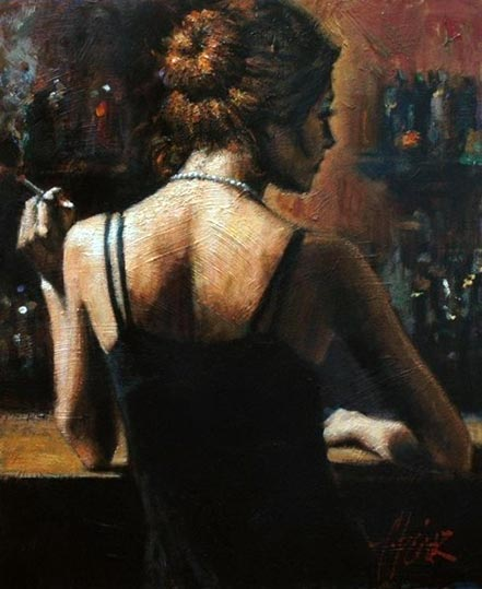 Fabian Perez Senorita with Red Hair II