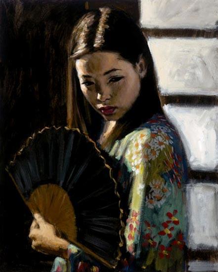 fabian perez study for japanese girl i