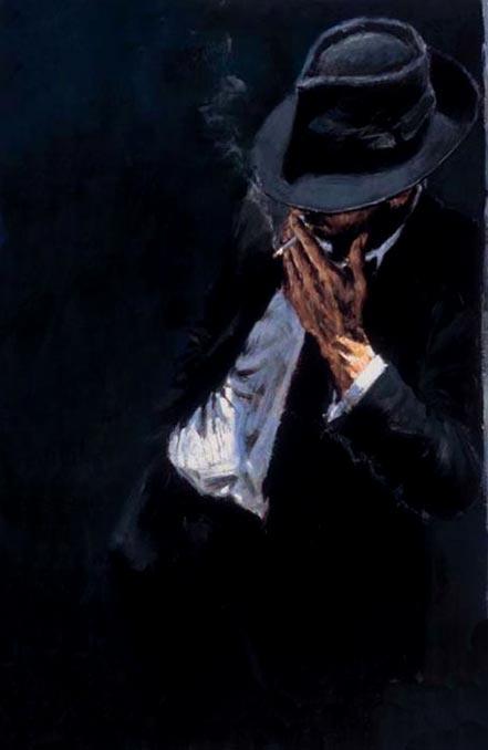 fabian perez study for man in black suit