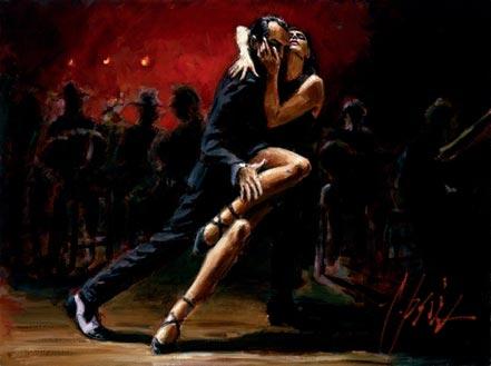 fabian perez tango in red