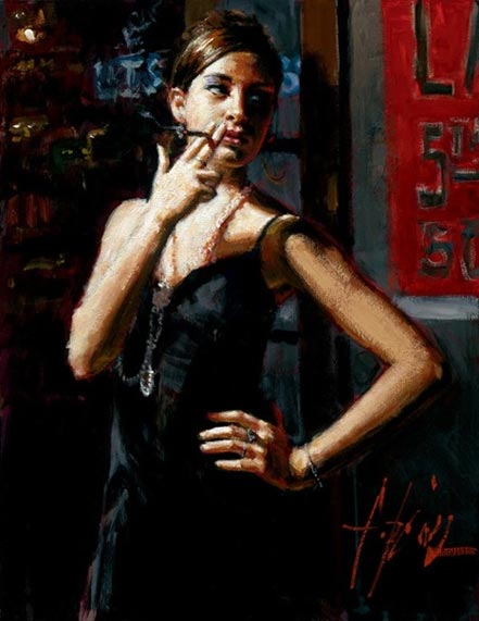 fabian perez waiting for customers iii