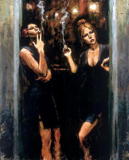 fabian perez waiting for customers
