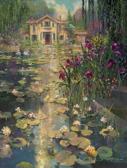 james coleman iris and lilies