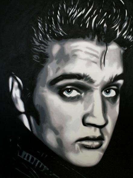 marco toro elvis black and white