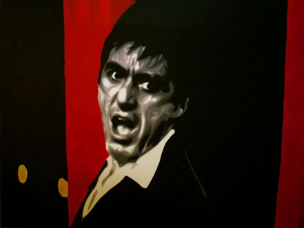 marco toro pacino scarface red black