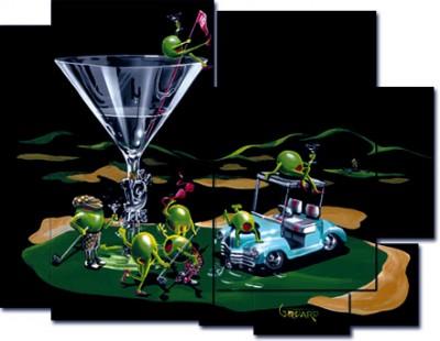 michael godard 19th hole mosaic