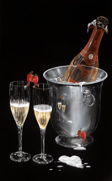 michael godard champagne kiss