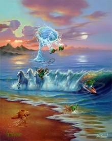 michael godard commotion in the ocean