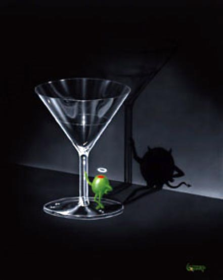 michael godard he devil martini