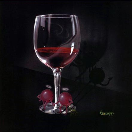 michael godard he devil she devil red wine