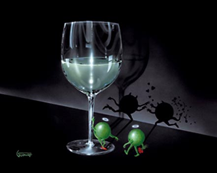 michael godard he devil she devil white wine