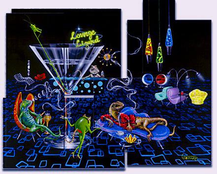 michael godard lounge lizard mosaic