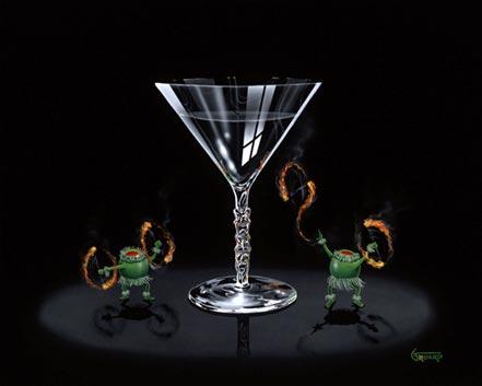 michael godard tiki martini