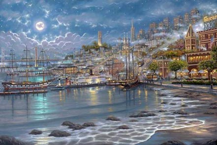 robert finale san francisco moonlit bay