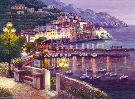 sam park amalfi twilight