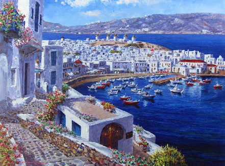 sam park mykonos harbor