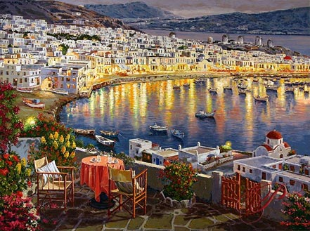 sam park mykonos sunset
