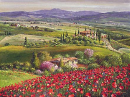 sam park tuscany red poppies