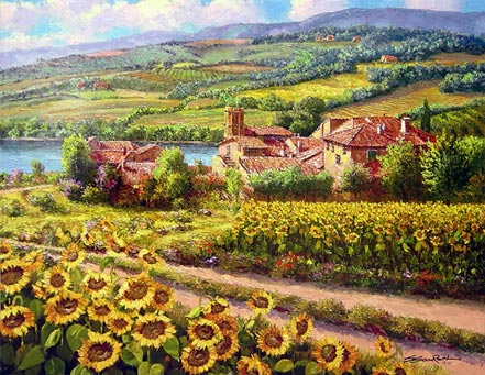 sam park tuscany sunflowers
