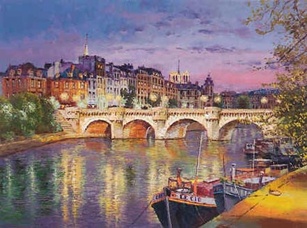 sam park twilight at pont neuf