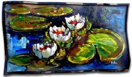 steve barton water lilies